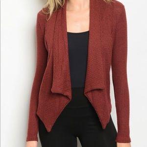 Brick Red cardigan